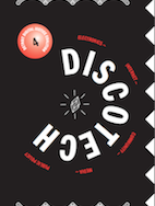 How to DiscoTech cover - black cover with lavender text in a half-circle